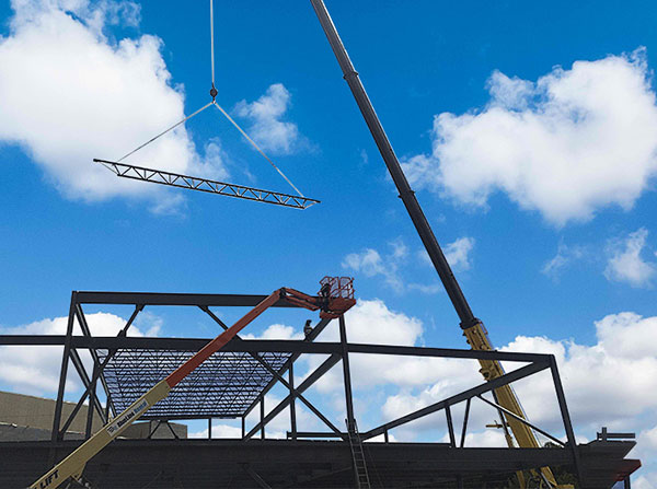 erecting-a-steel-shoping-center-steel-supply-company
